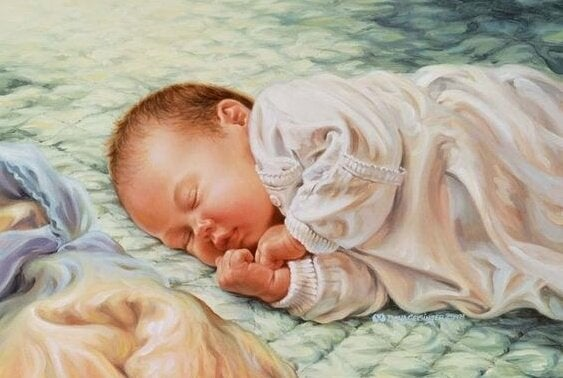 Die lieve kleine baby betekent alles voor ons