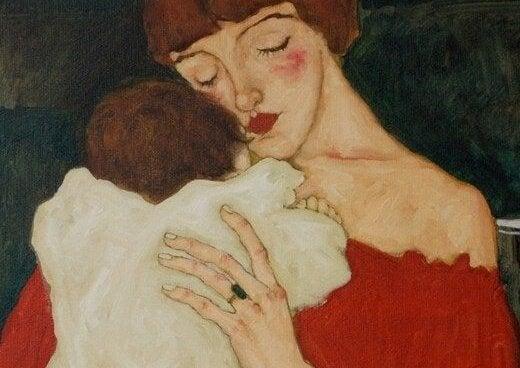 Een knuffel voor het slapen gaan en een kusje in de ochtend