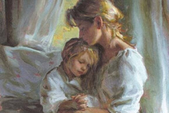Bewust ouderschap is er zijn voor je kind en hem te laten zien met een kusje en een knuffel dat je van hem houdt