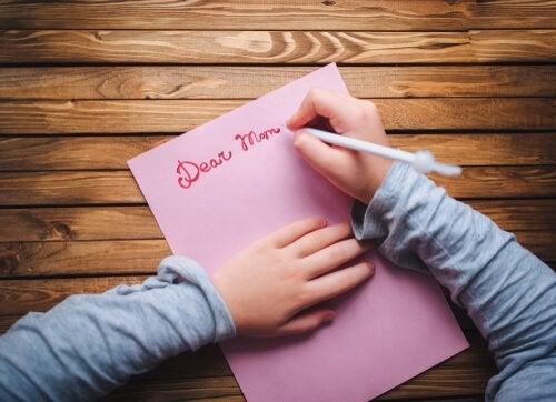 Kind schrijft brief