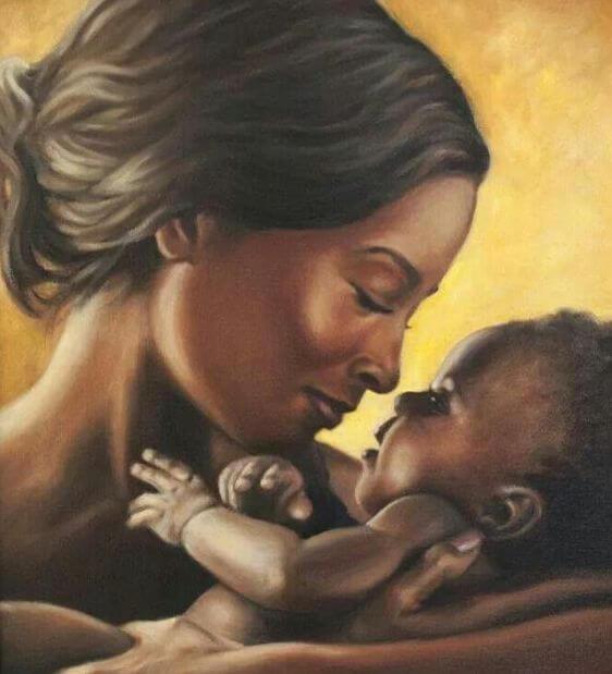 Liefde tussen moeder en baby