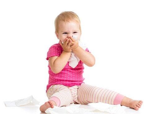 Is je baby verkouden zodra het regent
