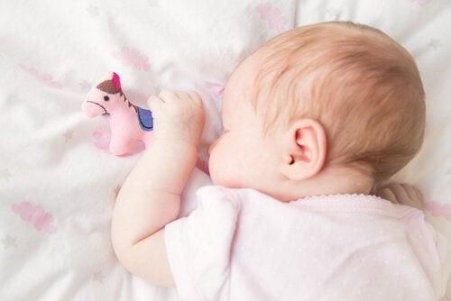 Slapende baby
