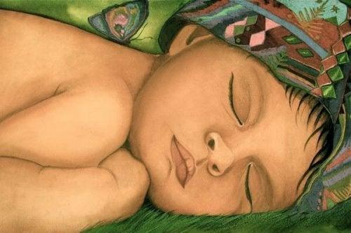 Ik ben een moeder en soms voel ik mij eenzaam - slapend kind
