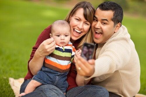 De liefde tussen de ouders vastgelegd