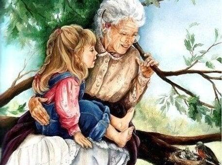 Grootouder met kleinkind