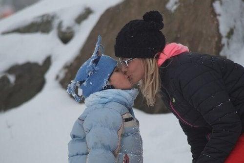Genegenheid tussen een moeder en dochter