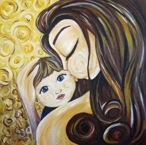 Moeder houdt van haar kind