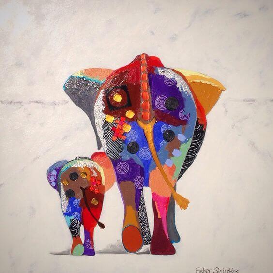 De kracht van een moeder, zo sterk als een olifant
