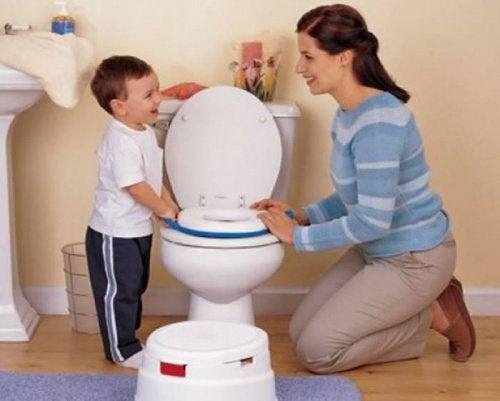 Zindelijk maken met moeder en kind