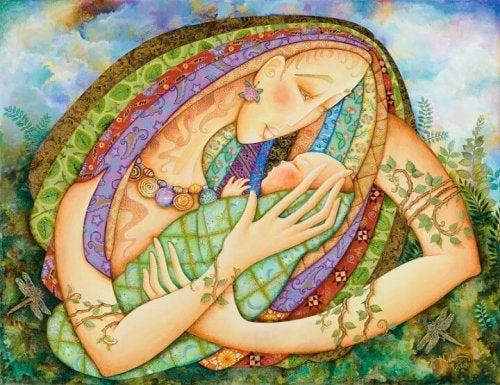 Moeder schilderij