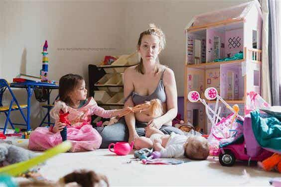 De foto die viraal ging laat de ziekte zien waarover moeders niet praten