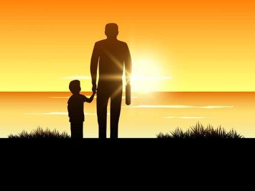 Vader en kind samen
