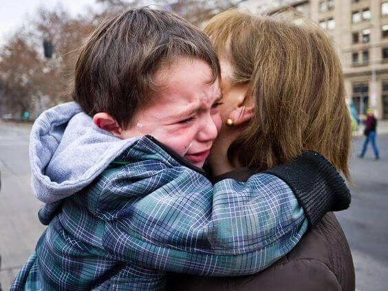 Verdriet om afscheid te nemen van je kind