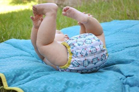 Baby in luier