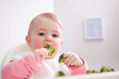 Groenten zijn goed voor een baby's gewicht