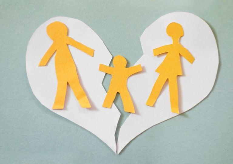 Gescheurd hart met gebroken gezin