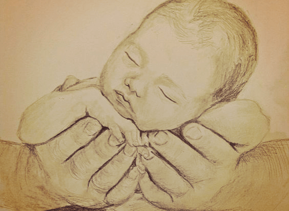 Je baby's kleine hand
