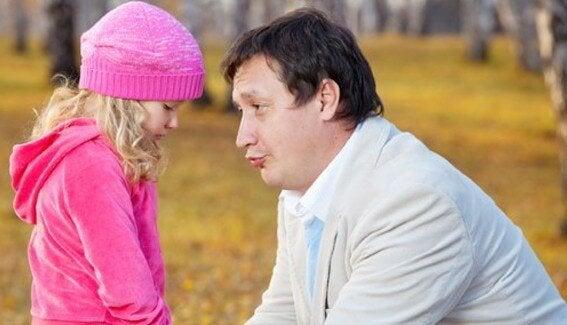 Vader troost dochter