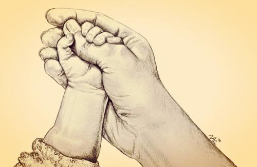 Wanneer je baby's kleine hand je vinger grijpt