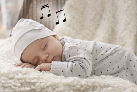 Een slapende baby