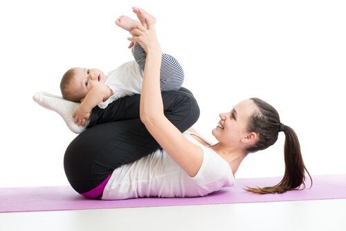 Leg je baby op zijn rug