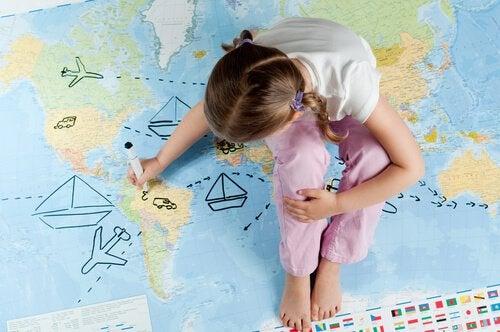 Reizen op jonge leeftijd: de wereldkaart