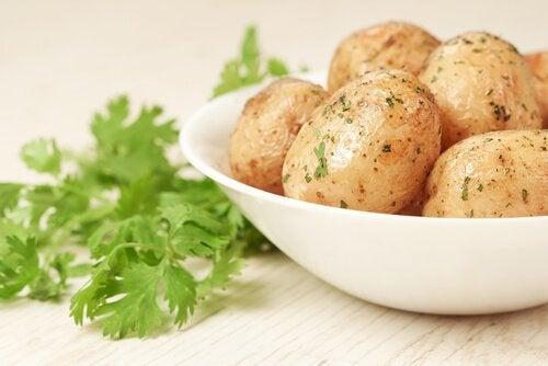 Aardappel en peterselie