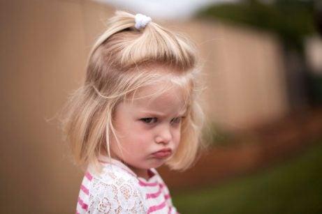 Woede bij kinderen: meisje