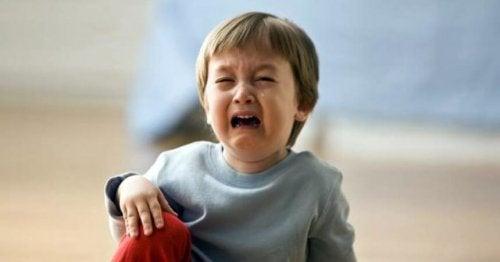 Kind huilt na vallen