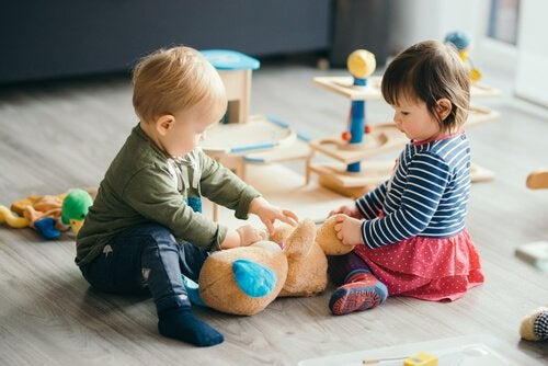 Kinderen kunnen op de opvang nieuwe vriendjes maken
