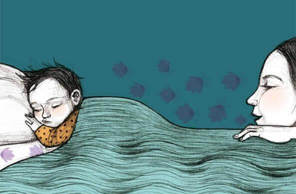 Illustratie van bedtijd