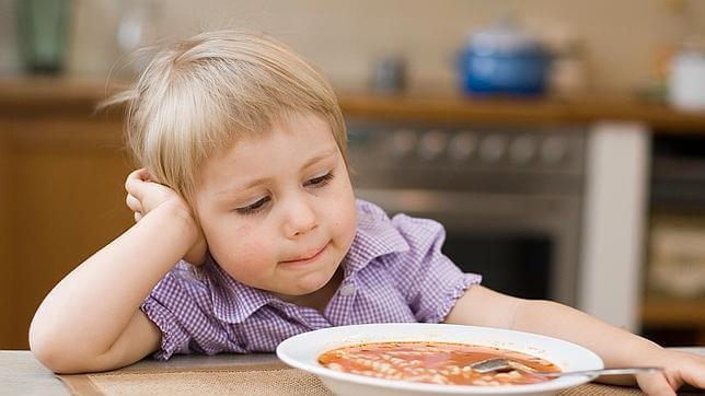 Kind wil soep niet eten