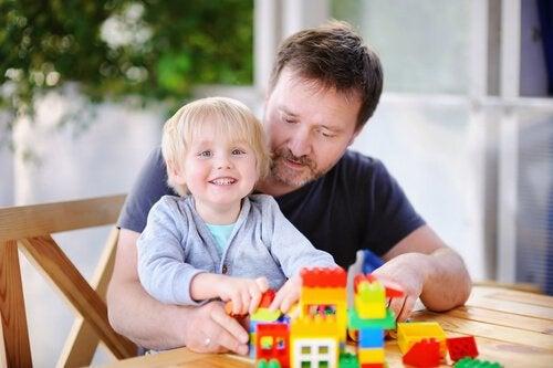 Psychologische voordelen van Lego: vader en zoon