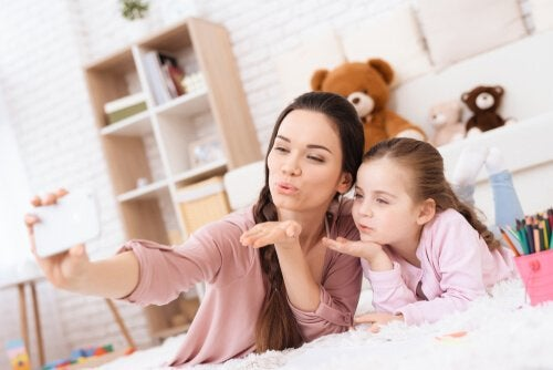 Millennial-ouders: selfie
