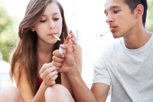 Rokende jongeren