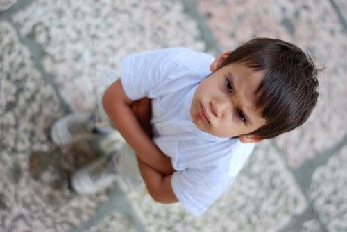 Moeilijke kinderen: kwaad jongetje