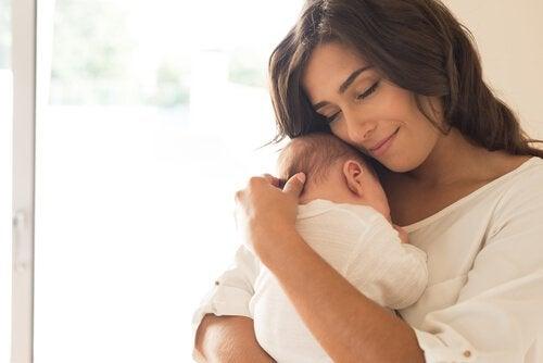 De hersenen van een moeder: mama en baby