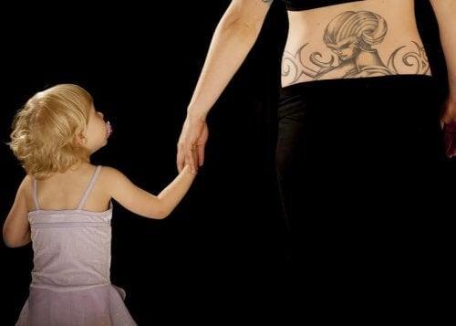 Tattoo met de naam van je kindje