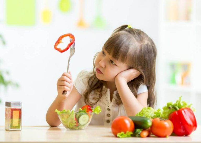 Kind met paprika