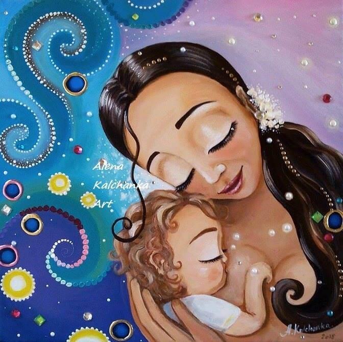Jouw armen om mijn nek als teken van pure liefde