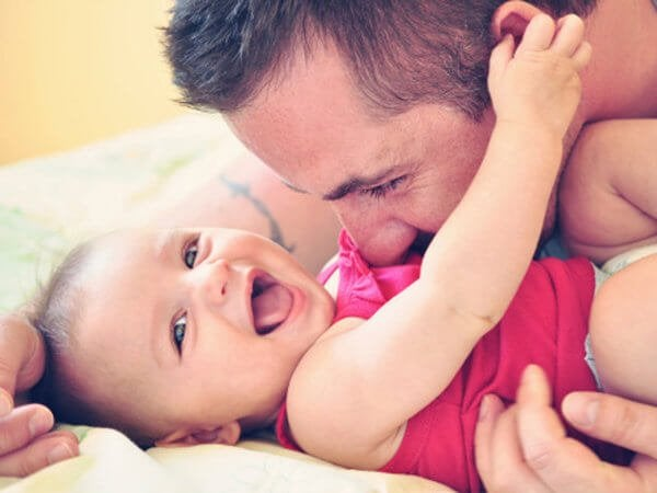 Goede vader en baby
