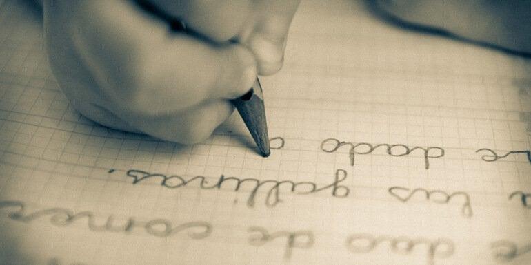 Handschrift in potlood