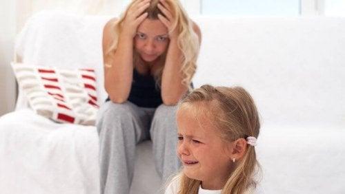 Met een boos kind te praten