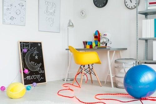 Decoratie van een speelkamer