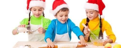 kinderen die een gerecht maken
