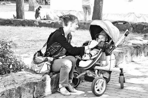 jij en ik in het park mama