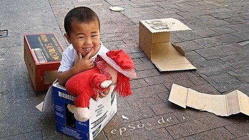 Kind met hand-voet-mondziekte