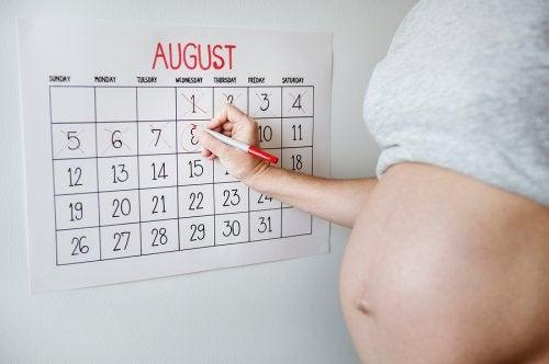 Uitgerekende datum op een kalender bijhouden