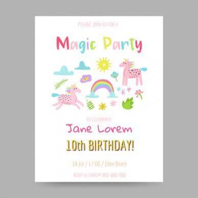 Uitnodigingen voor het verjaardagsfeestje van je kind